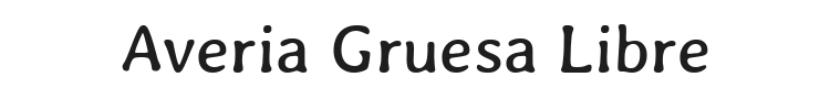 Averia Gruesa Libre Font Preview