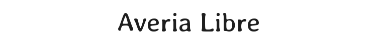 Averia Libre Font Preview