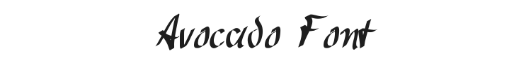 Avocado Font Preview