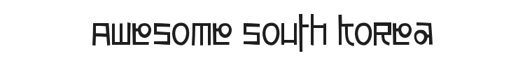 Awesome South Korea Font