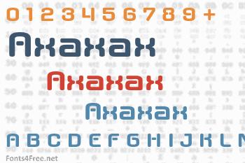 Axaxax Font