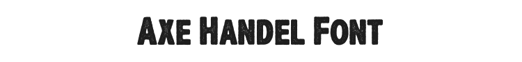 Axe Handel Font Preview