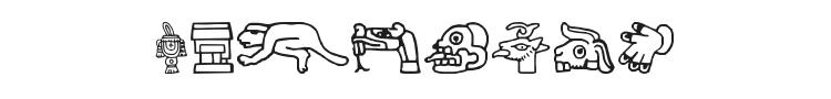 Aztec Font Preview
