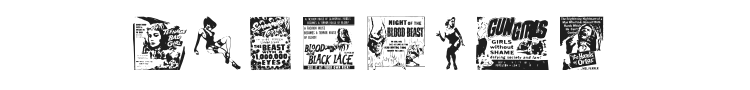 B Movie Dings Font Preview