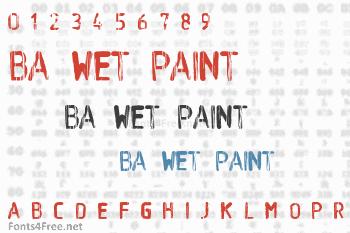 BA Wet Paint Font