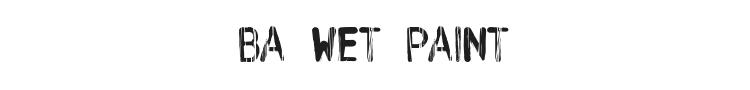 BA Wet Paint Font Preview