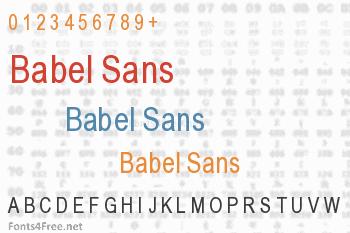 Babel Sans Font