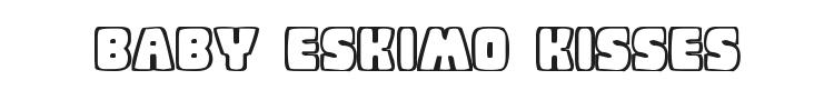 Baby Eskimo Kisses Font Preview