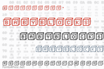 BabyBlocks Font