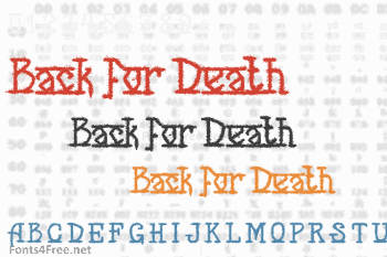 Back for Death Font