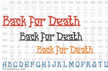 Back for Death Font