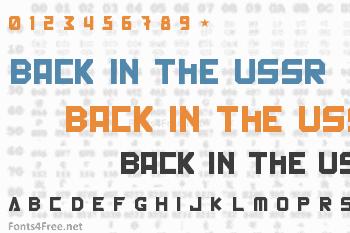 Back In The USSR DL Font