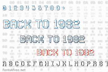 Back to 1982 Font