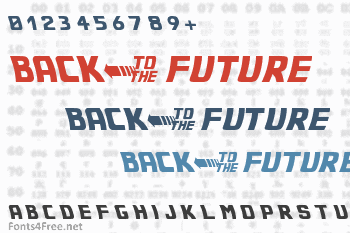 Back to the Future 2002 Font