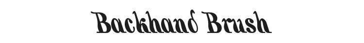 Backhand Brush Font