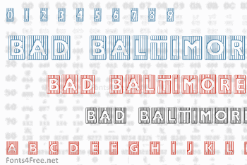 Bad Baltimore Beveled Font