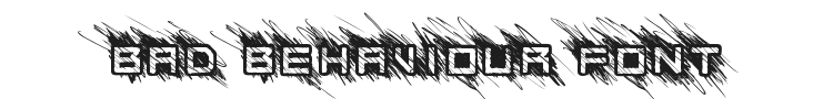 Bad Behaviour Font