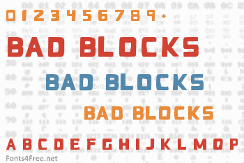 Bad Blocks Font