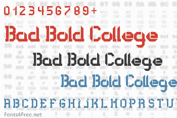 Bad Bold College Font