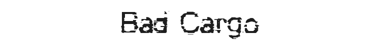 Bad Cargo Font Preview