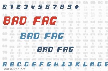 Bad Fag Font