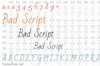 Bad Script Font