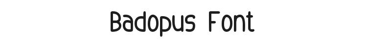 Badopus Font