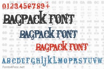 Bagpack Font
