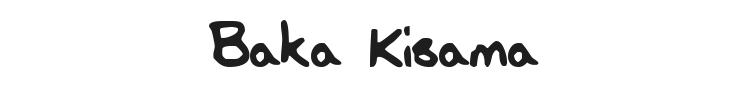 Baka Kisama Font Preview