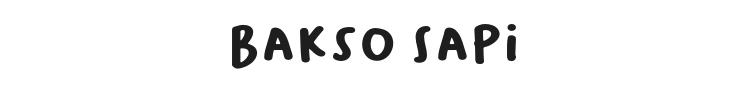 Bakso Sapi Font Preview