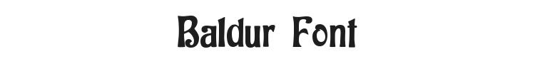 Baldur Font Preview