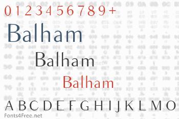 Balham Font