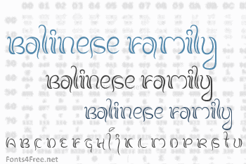 Balinese Family Font