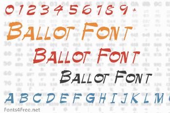Ballot Font