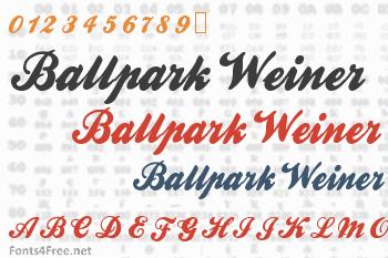 Ballpark Weiner Font