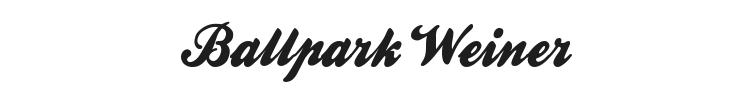 Ballpark Weiner Font Preview