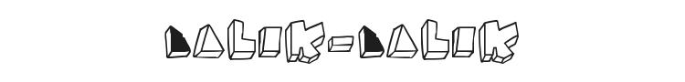 Balok-Balok Tak Sempurna Font