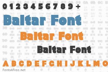 Baltar Font