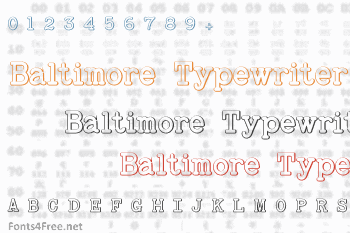 Baltimore Typewriter Beveled Font