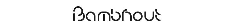 Bambhout Font Preview