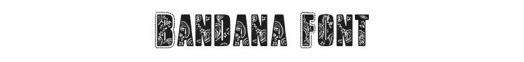 Bandana Font Preview