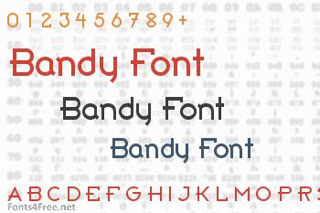 Bandy Font