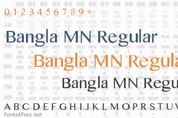 Bangla MN Regular Font