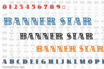 Banner Star Font