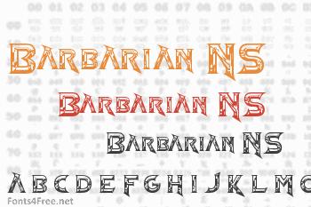 Barbarian NS Font