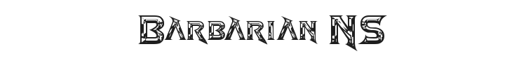 Barbarian NS Font Preview