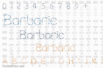 Barbaric Font