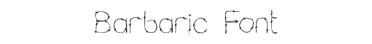 Barbaric Font Preview