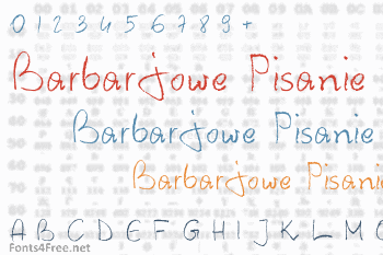 Barbarjowe Pisanie Font