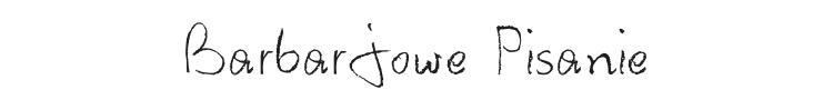 Barbarjowe Pisanie Font Preview